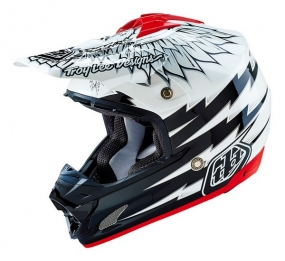 TROY LEE DESIGNS HELMET SE3 16 FLIGHT WHITE