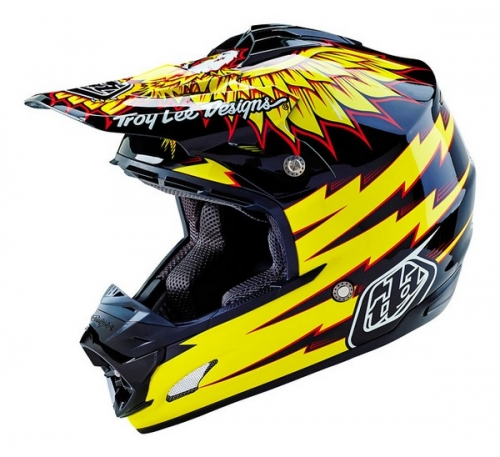 TROY LEE DESIGNS HELMET SE3 16 FLIGHT BLK/YEL