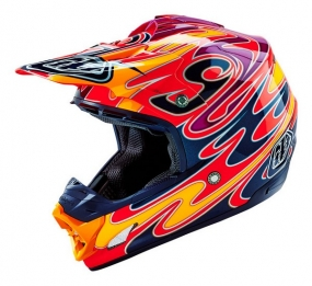 TROY LEE DESIGNS HELMET SE3 16 REFLECTION RED
