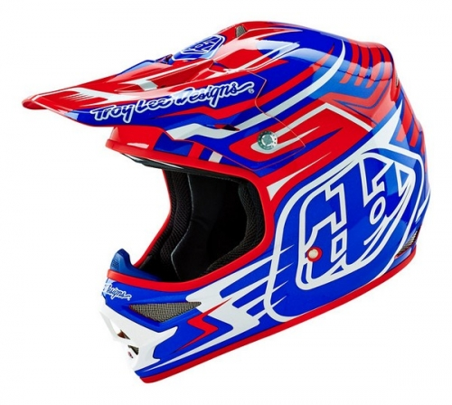 TROY LEE DESIGNS HELMET AIR 16 SCRATCH RED/BLUE