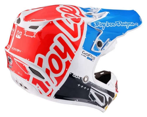 TROY LEE DESIGNS SE4 HELMET 2017 FACTORY WHITE