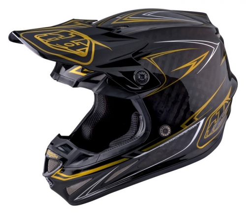 TROY LEE DESIGNS SE4 HELMET 2017 PINSTRIPE BLACK