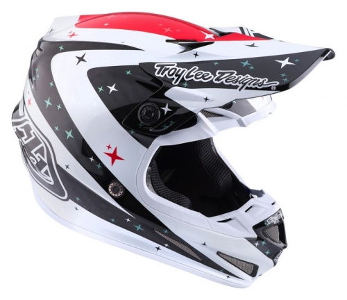 TROY LEE DESIGNS SE4 HELMET 2017 TWILIGHT WHITE