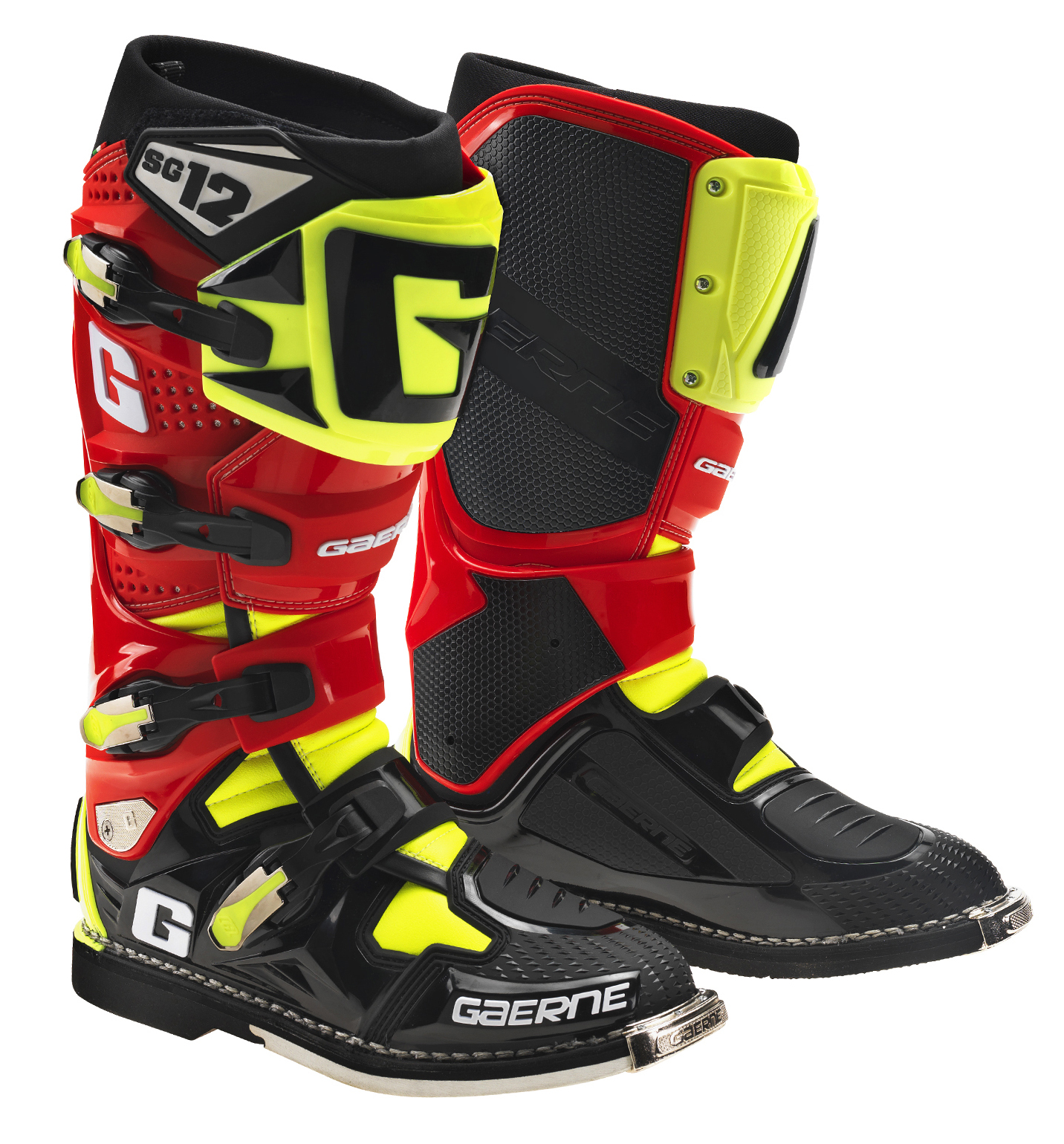 Gaerne Boots Sg12 >> GAERNE SG12 BOOT BLACK / RED / YELLOW - Motocross ...