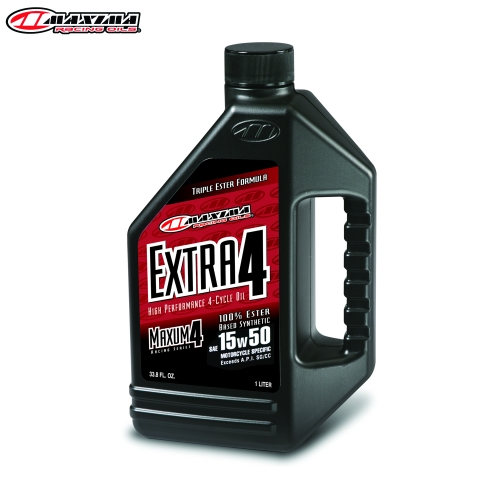 Maxima 4T Extra 4 100% Ester Synthetic (SAE 15w50) 1 Litre (12