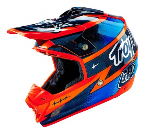 TROY LEE DESIGNS HELMET SE3 16 TEAM ORG/NVY