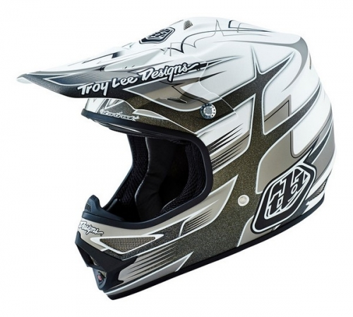 TROY LEE DESIGNS HELMET AIR 16 STARBREAK MAT WHT