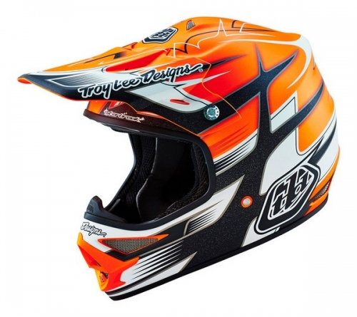 TROY LEE DESIGNS HELMET AIR 16 STARBREAK MAT ORG