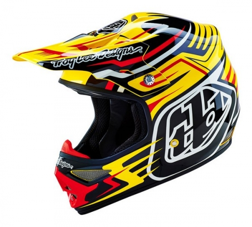 TROY LEE DESIGNS HELMET AIR 16 SCRATCH YELLOW