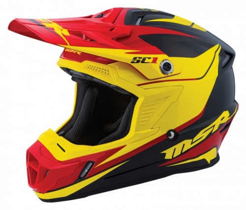 MSR HELMET SC1 PHOENIX 2016 BLACK/YELLOW/RED