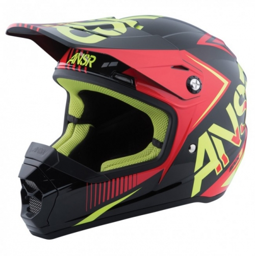 ANSWER HELMET SNX KID 2016 FLO RED/BLACK ACID