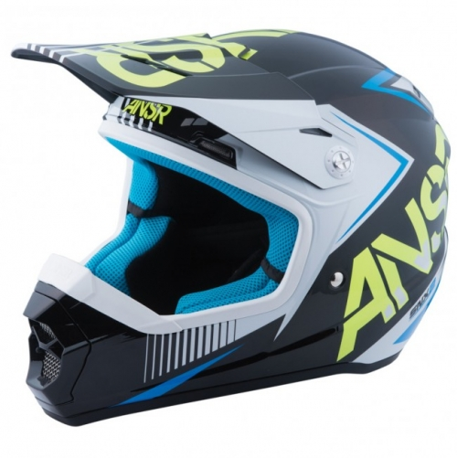 ANSWER HELMET SNX KID 2016 WHITE/BLACK/ACID
