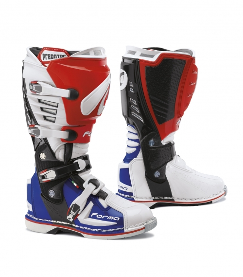 FORMA BOOT PREDATOR WHITE/RED/BLUE
